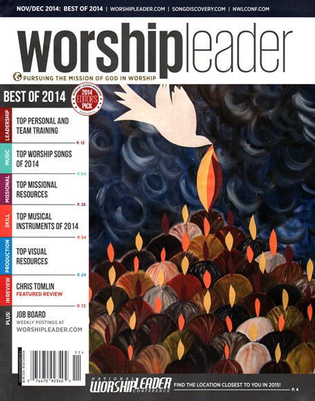 Worship Leader Magazine Cover - 11/1/2014