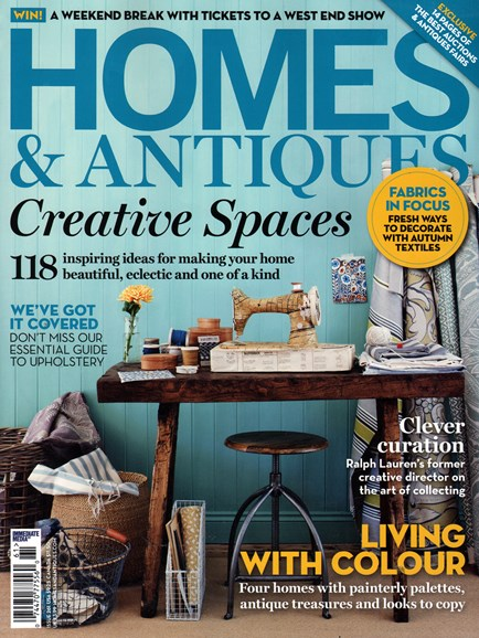Homes & Antiques Cover - 10/1/2014