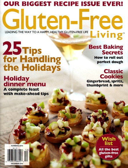 Gluten-Free Living Cover - 12/1/2014