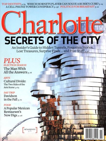 Charlotte Magazine Cover - 11/1/2014