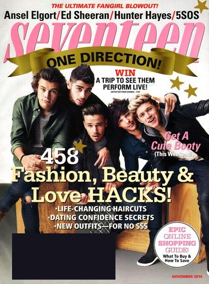 Seventeen Cover - 11/1/2014