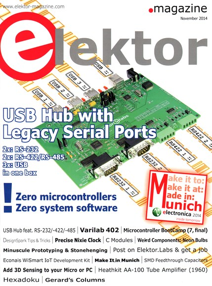 Elektor - North American Edition Cover - 11/1/2014