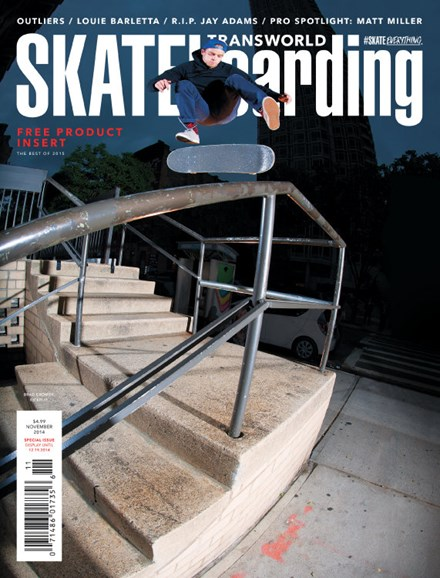 Transworld SKATEboarding Cover - 11/1/2014