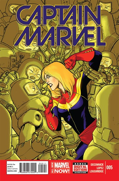 Captain Marvel Cover - 9/1/2014