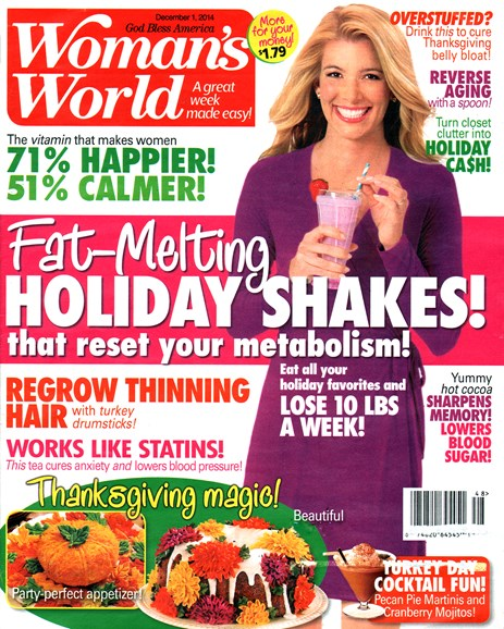 Woman's World Cover - 12/1/2014