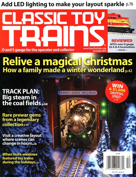 Classic Toy Trains Cover - 12/1/2014