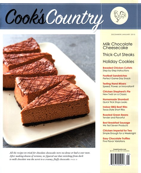 Cook's Country Cover - 12/1/2014
