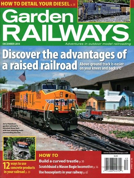 Garden Railways Cover - 12/1/2014