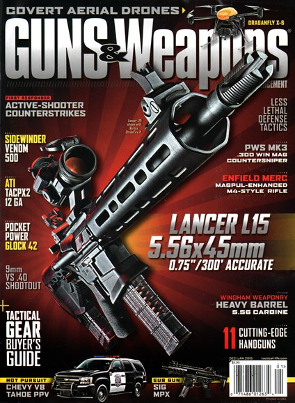 Guns & Weapons For Law Enforcement Cover - 12/1/2014