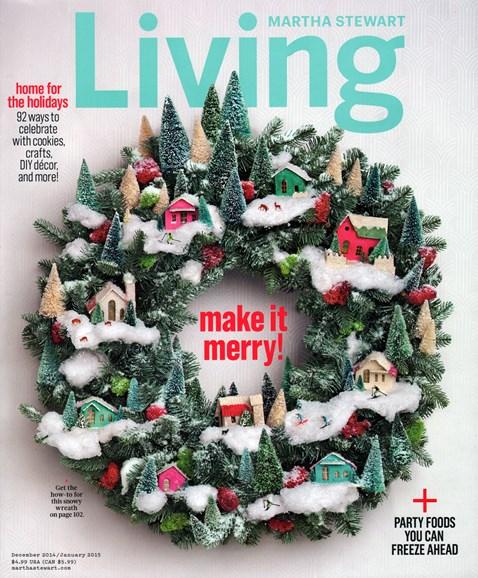 Martha Stewart Living Cover - 12/1/2014