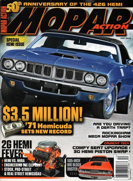 Mopar Action Cover - 12/1/2014