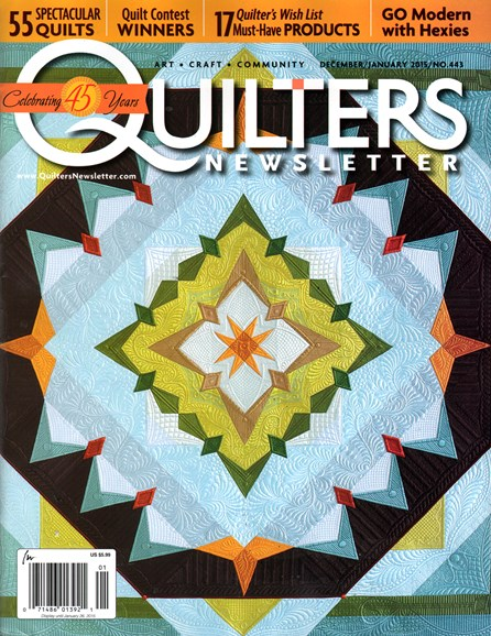 Quilter's Newsletter Cover - 12/1/2014