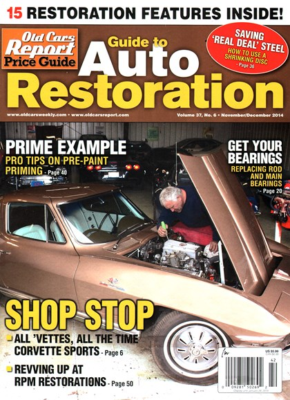 Old Cars Report Price Guide Cover - 11/1/2014