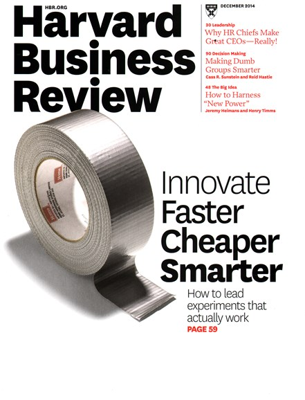 Harvard Business Review Cover - 12/1/2014