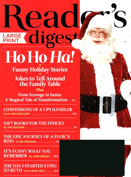 Reader's Digest - Large Print Edition Cover - 12/1/2014