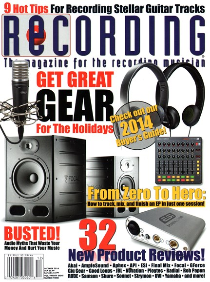 Recording Magazine Cover - 12/1/2014