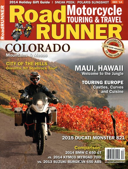 Road RUNNER Motorcycle & Touring Cover - 12/1/2014