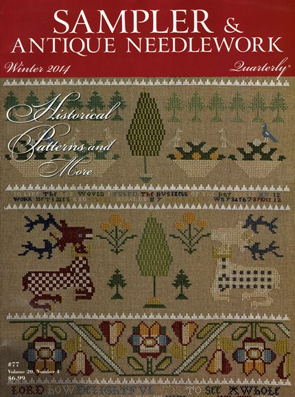 Sampler & Antique Needlework Qtry Magazine Cover - 12/1/2014