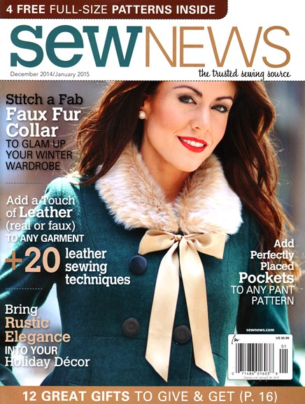 Sew News Cover - 12/1/2014