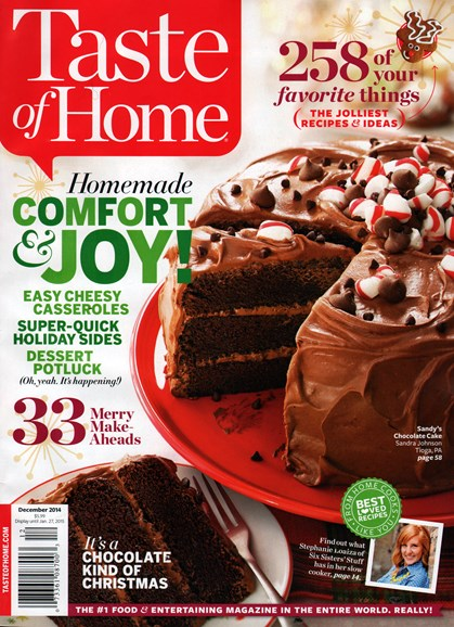 Taste of Home Cover - 12/1/2014