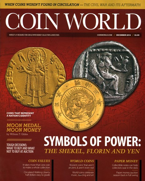 Coin World Monthly Cover - 12/1/2014