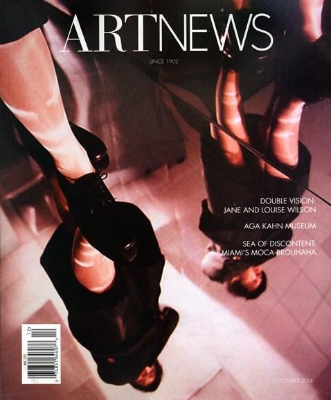 ARTnews Cover - 12/1/2014