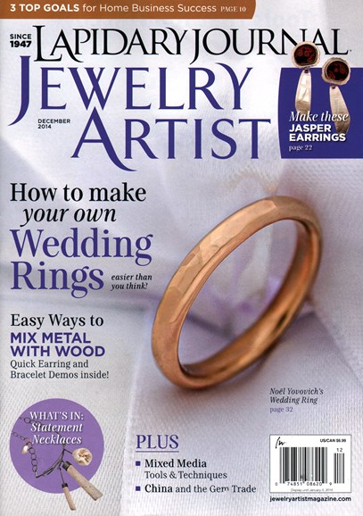 Lapidary Journal Jewelry Artist Cover - 12/1/2014
