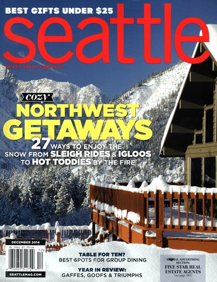 Seattle Magazine Cover - 12/1/2014