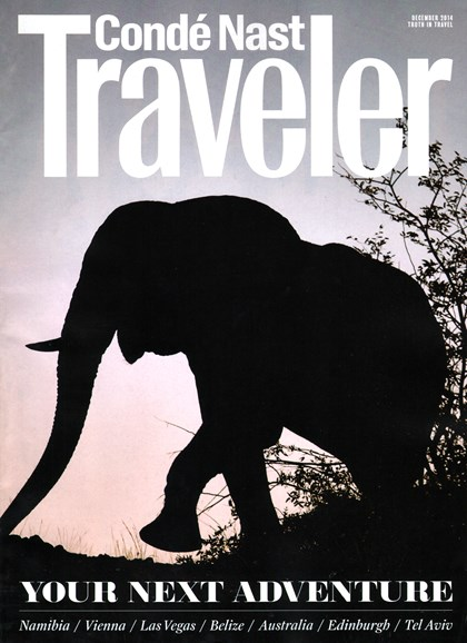 Condé Nast Traveler Cover - 12/1/2014