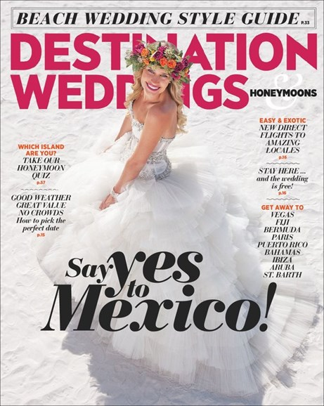 Destination Weddings & Honeymoons Cover - 7/1/2014