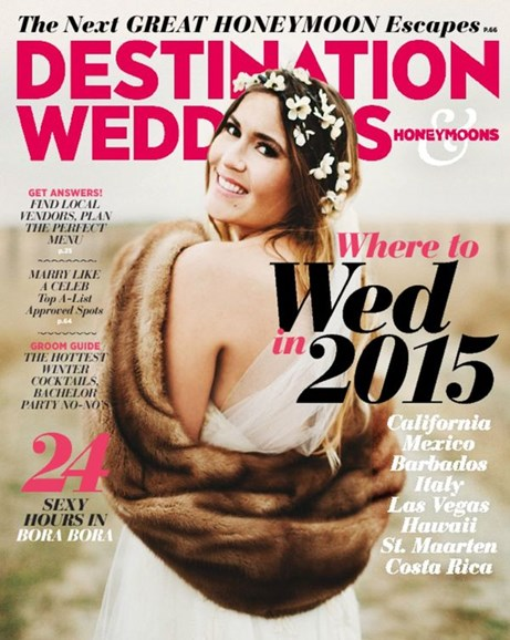 Destination Weddings & Honeymoons Cover - 11/1/2014