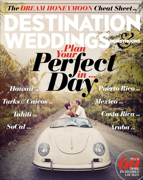 Destination Weddings & Honeymoons Cover - 9/1/2014