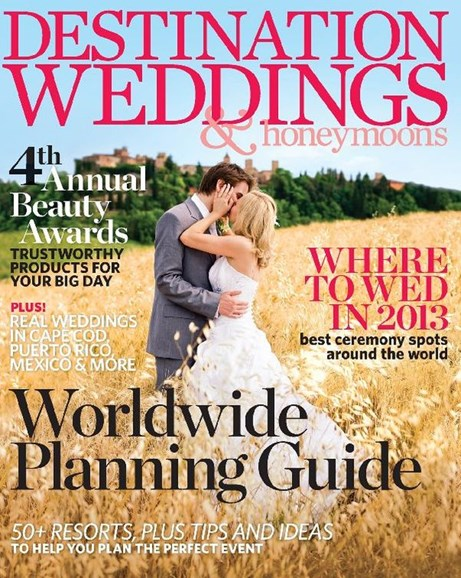 Destination Weddings & Honeymoons Cover - 1/1/2013