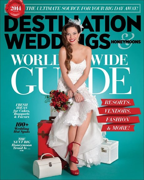 Destination Weddings & Honeymoons Cover - 1/1/2014