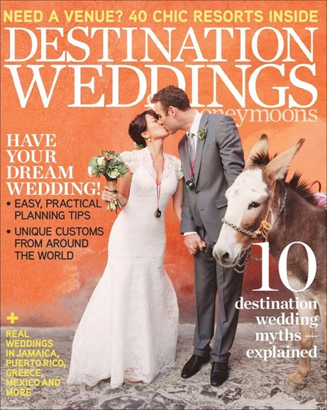 Destination Weddings & Honeymoons Cover - 1/1/2012