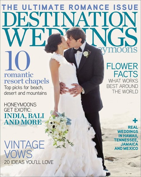 Destination Weddings & Honeymoons Cover - 3/1/2012