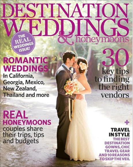 Destination Weddings & Honeymoons Cover - 9/1/2012