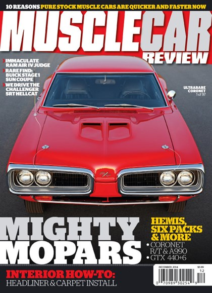 Muscle Car Review Cover - 12/1/2014