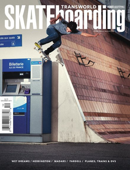 Transworld SKATEboarding Cover - 12/1/2014