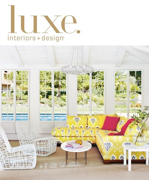 Luxe Interiors & Design Cover - 6/1/2014