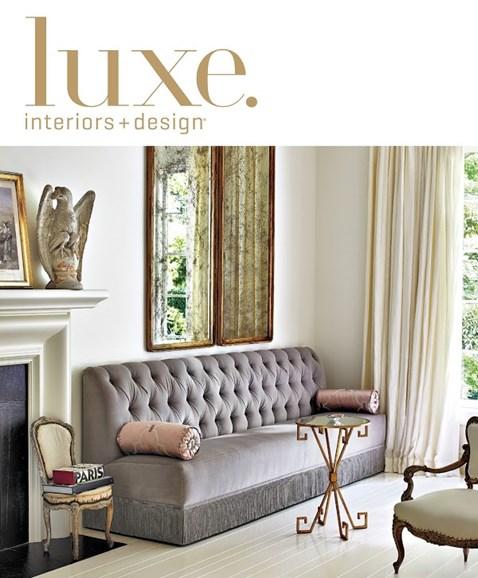 Luxe Interiors & Design Cover - 9/1/2014