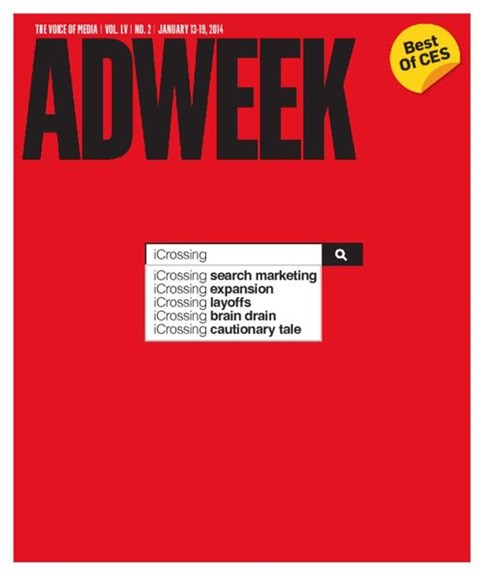 Adweek Cover - 1/13/2014
