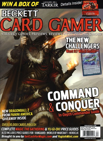 Beckett Card Gamer Cover - 12/1/2014