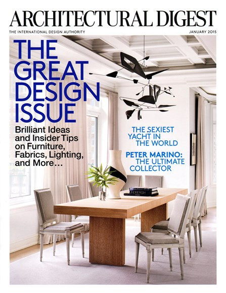 Architectural Digest Cover - 1/1/2015