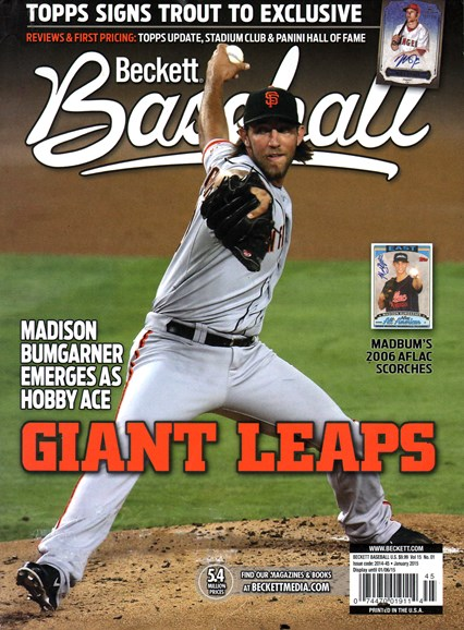 Beckett Baseball Cover - 1/1/2015