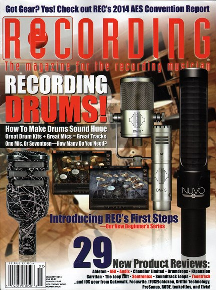 Recording Magazine Cover - 1/1/2015
