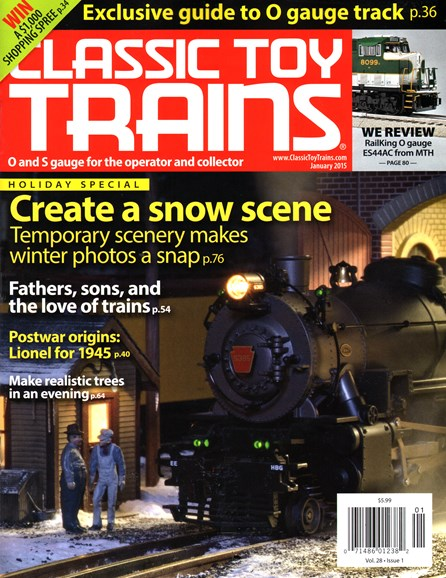 Classic Toy Trains Cover - 1/1/2015
