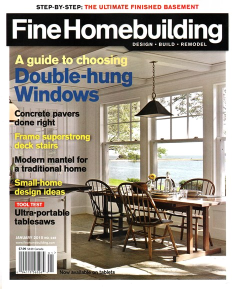 Fine Homebuilding Cover - 1/1/2015