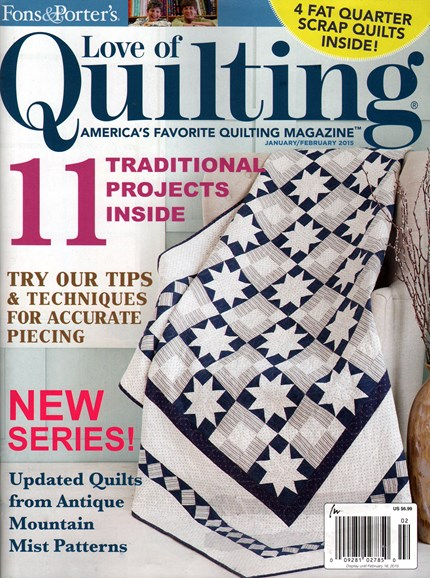 Fons & Porter's Love of Quilting Cover - 1/1/2015