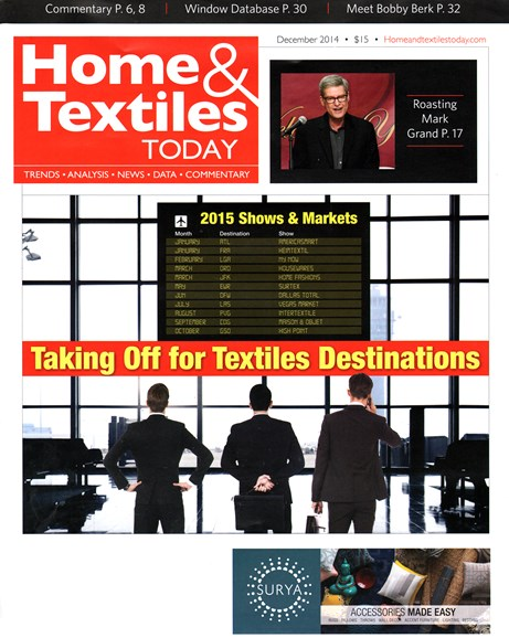 Home & Textiles Today Cover - 12/1/2014